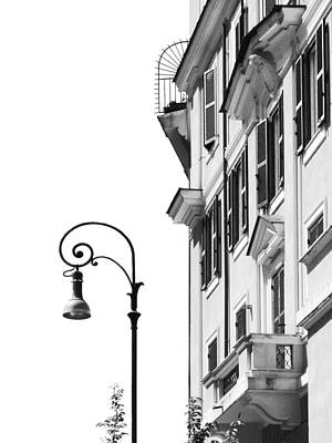 Photograph - Building With Vintage Street Light  by Vlad Baciu