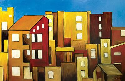 Painting - Buildings by Ahmed Amir