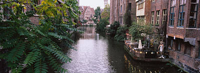 Belgium Photograph - Buildings Along A Canal, Ghent, Belgium by Panoramic Images