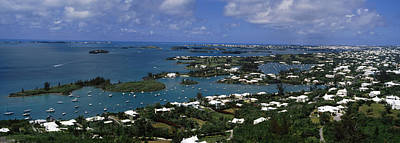 Bermuda Photograph - Buildings Along A Coastline, Bermuda by Panoramic Images