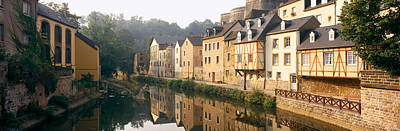 Luxembourg Photograph - Buildings Along A River, Alzette River by Panoramic Images
