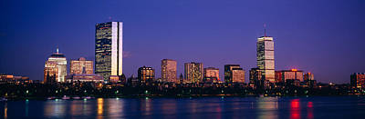 Buildings Along A River, Charles River Art Print by Panoramic Images