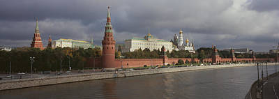 Buildings Along A River, Grand Kremlin Art Print by Panoramic Images