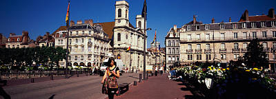 Besancon Photograph - Buildings Along A Street, Besancon by Panoramic Images