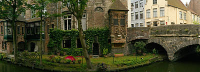 Belgium Photograph - Buildings Along Channel, Bruges, West by Panoramic Images