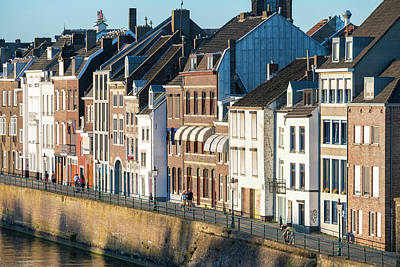 Maastricht Photograph - Buildings Along Meuse River by Jason Langley