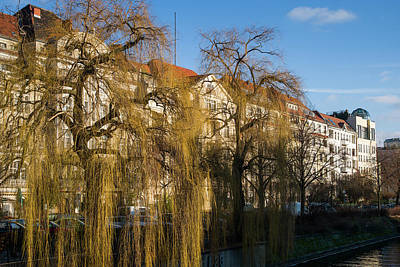 Weeping Willow Photograph - Buildings Along The Landwehr Canal by Panoramic Images