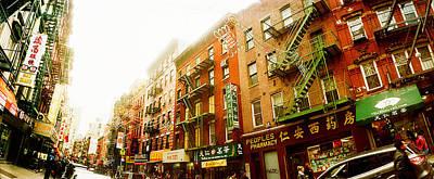 Buildings Along The Street, Chinatown Art Print