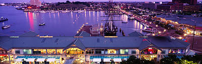 Inner Harbor Photograph - Buildings At A Harbor, Inner Harbor by Panoramic Images