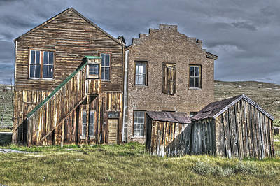 Photograph - Buildings At Bodie 2 by SC Heffner
