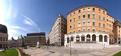 Lyon Photograph - Buildings At Place Louis Pradel, Lyon by Panoramic Images