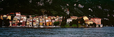 Lake Como Photograph - Buildings At The Lakeside Viewed by Panoramic Images