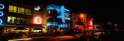 The Western Hotel Photograph - Buildings At The Roadside, Ocean Drive by Panoramic Images