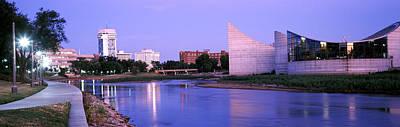Buildings At The Waterfront, Arkansas Art Print