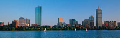 Boston Panoramic Photograph - Buildings At The Waterfront, Back Bay by Panoramic Images