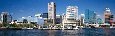 Maryland Photograph - Buildings At The Waterfront, Baltimore by Panoramic Images