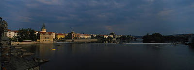 Vltava Photograph - Buildings At The Waterfront, Charles by Panoramic Images