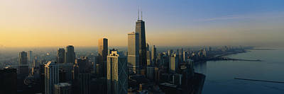Romantic Location Photograph - Buildings At The Waterfront, Chicago by Panoramic Images