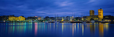 Buildings At The Waterfront, City Hall Art Print by Panoramic Images