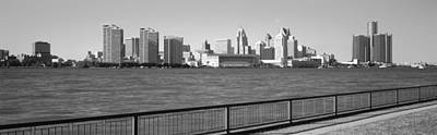 Buildings At The Waterfront, Detroit Art Print by Panoramic Images