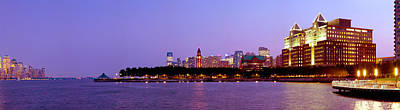 Buildings At The Waterfront, Hoboken Art Print by Panoramic Images