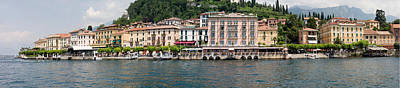 Lake Como Photograph - Buildings At The Waterfront, Lake Como by Panoramic Images