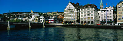Limmat Photograph - Buildings At The Waterfront, Limmat by Panoramic Images
