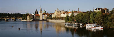 Prague Photograph - Buildings At The Waterfront, Prague by Panoramic Images
