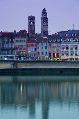 Saone River Photograph - Buildings At The Waterfront, Quai Jean by Panoramic Images