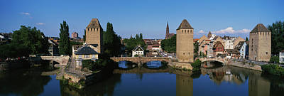 Rhin Photograph - Buildings At The Waterfront, River Ill by Panoramic Images