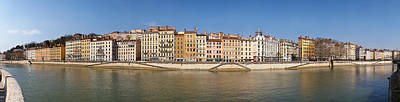 Buildings At The Waterfront, Saone Art Print by Panoramic Images