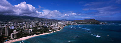 Cumulus Photograph - Buildings At The Waterfront, Waikiki by Panoramic Images