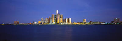 Wayne County Photograph - Buildings At Waterfront, Detroit by Panoramic Images
