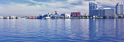 Norfolk Virginia Photograph - Buildings At Waterfront, Norfolk by Panoramic Images