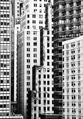 Buildings Bw Print by Bruce Bain