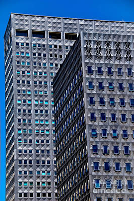 Buildings Downtown Pittsburgh Print by Amy Cicconi