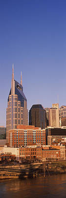 Downtown Nashville Photograph - Buildings In A City, Bellsouth by Panoramic Images
