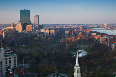 Buildings In A City, Boston Common Art Print by Panoramic Images