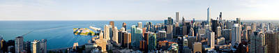 Buildings In A City, Chicago, Cook Art Print by Panoramic Images