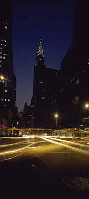 Buildings In A City, Chrysler Building Art Print by Panoramic Images