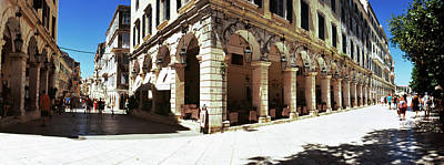 Corfu Photograph - Buildings In A City, Corfu, Ionian by Panoramic Images