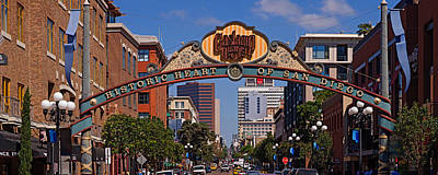 Gaslamp Quarter Photograph - Buildings In A City, Gaslamp Quarter by Panoramic Images