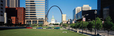 Gateway Arch Photograph - Buildings In A City, Gateway Arch, Old by Panoramic Images