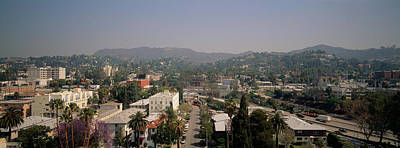 Buildings In A City, Hollywood, City Art Print by Panoramic Images