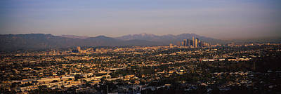 San Gabriel Photograph - Buildings In A City, Hollywood, San by Panoramic Images