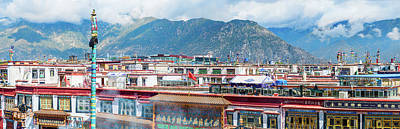 Tibetan Buddhism Photograph - Buildings In A City, Lhasa, Tibet, China by Panoramic Images