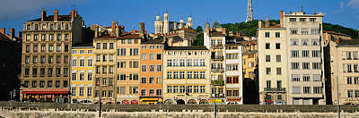 Lyon Photograph - Buildings In A City, Lyon, France by Panoramic Images