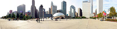 Buildings In A City, Millennium Park Art Print by Panoramic Images