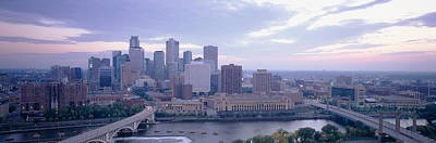 Minnesota Photograph - Buildings In A City, Minneapolis by Panoramic Images