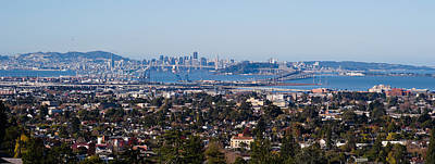 Bay Bridge Photograph - Buildings In A City, Oakland, San by Panoramic Images